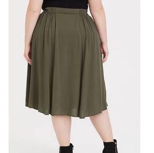 Torrid Olive Green Midi Button Skirt- Not opened